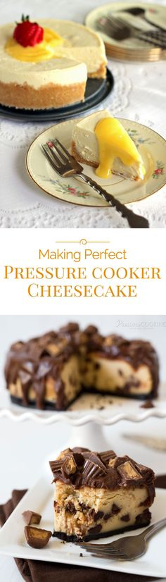 Making cheesecake in the pressure cooker is super easy and super rich and creamy.