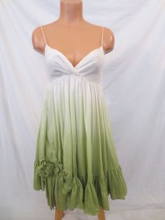GRAYDN spring party dress - $29.99 at JOHNNY BOMBSHELL #graydn #hombre #green #silk #sundress #fullskirt
