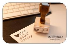 Sweet new rubber stamp quote by Corina Nielsen being used by Ashley Reece Photography!  Can be found here: http://www.corinanielsen.com/shop/product.php?productid=553==