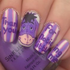 eeyore by practise_makes_perfect #nail #nails #nailart