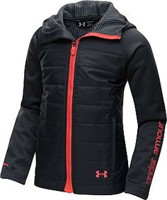 This is slick, I love this jacket .This Girls' ColdGear Infrared Werewolf Jacket will keep her warm and dry. And it is great for layering when the weather is rapidly changing. Nike Under Armour, Under Armour Girls, Athletic Outfits, Athletic Wear, Looks Academia, Cute Gym Outfits, Jackett, Sport Wear, Mode Style