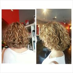 Love this shape! I think I want a little longer, but exactly what I want! Love this shape! I think I Curly Hair Tips, Short Curly Hair, Hair Dos, Short Hair Cuts, Curly Hair Styles, Perms For Short Hair, Medium Short Hair, Short Hair With Layers, Medium Hair Styles