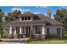 Floor Plan AFLFPW77897 is a beautiful 2337 square foot  Craftsman  home design with 3 Garage Bays