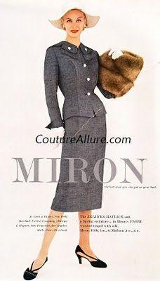 1f711bd00562 Vintage Dresses, Vintage Outfits, Vintage Fashion, Cool Suits, Tailored  Suits, Peplum