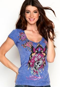 Beautiful Ghost Specialty Acid Wash V-Neck Tee, $88.00