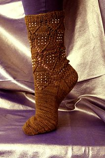 DALEKENIUM sock from Ravelry.com  Expressing sci-fi geekiness in yarn-Unobtainables: Fake Elements, Real Knits by Heatherly Walker and Allison Sarnoff