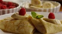 French Crepes. Excellent recipe, just make sure you flip them fast!