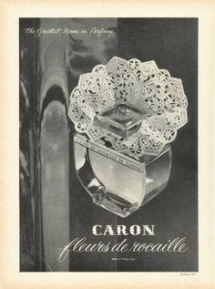 Caron - fleurs de rocaille old perfume add