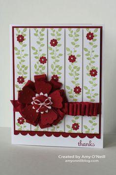 Seam binding Ribbon and blossom punch flower