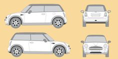 vector car outlines