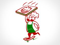 Pizza-delivery - like the character. would opt for a chubbier chef