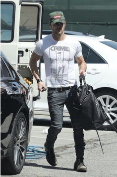 Justin Theroux Wears a Supreme Hat and Carries Alexander Wang Backpack | UpscaleHype