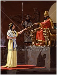 Queen Esther approaches King Xerxes, to ask a favor. Queen Esther Bible, Book Of Esther, Ancient Mesopotamia, Ancient Civilizations, Esther Biblia, Prince Of Egypt, Jesus Christ Images, Christian Artwork, Ancient Persia