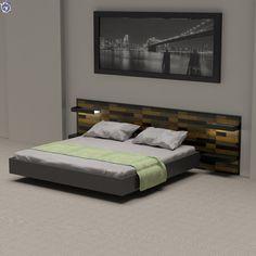 Κεφαλάρι κρεβατιού για δωμάτιο ξενοδοχείου με διακοσμητικά πάνελ με τούβλα σε 3 αποχρώσεις [Σειρά Bricks] Bed, Furniture, Home Decor, Decoration Home, Stream Bed, Room Decor, Home Furnishings, Beds, Home Interior Design