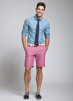 Men's Pink Chinos Outfit Inspiration Lookbook | Men's Style ...