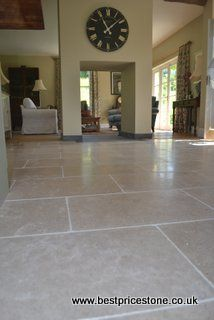 Dijon laid in a brick bond Brick Bonds, Garden Room Extensions, Natural Stone Flooring, Florida Home, Ground Floor, Natural Stones, Tile Floor, Floors, House