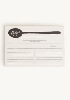 Spoon Recipe Cards By Rifle Paper Co. at #Ruche @Mimi B. ヾ(^∇^)