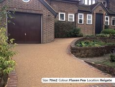 Resin Bound Driveway in Bronze Trio colour, Reigate, Surrey by Clearstone