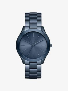 It's an azure thing. A perennial favorite, our iconic Runway watch gets a slim, cool blue update for fall. Let it pop opposite neutral ensembles.