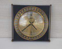 Vintage wall clock, Germany Atlanta wall clock, Art Deco wall clock, metal clock, wall decor, unique wall clock, made in germany, retro Metal Clock, Clock Wall, Art Deco, Deco Wall, Unique Wall Clocks, Wall Decor, Retro, Unique Jewelry, Handmade Gifts