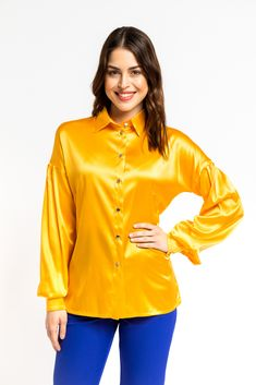 Yellow Shirts, Timeless Elegance, Color Blocking, Shirt Style, Special Occasion, Spring Summer, Silhouette, Buttons, Turquoise