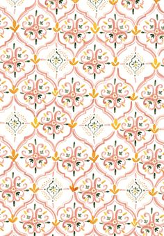 Moroccan pattern by Rosie Harbottle. Wish I could get it in wallpaper! Boho Pattern, Moroccan Pattern, Pattern Art, Yellow Pattern, Moroccan Print, Cute Pattern, Whatsapp Wallpaper, Wallpaper Backgrounds, Iphone Wallpaper