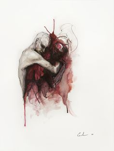 Red embrace / Agnes Cecile