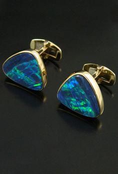 Black Opal Cufflinks