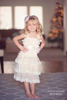 rustic flower girl dress
