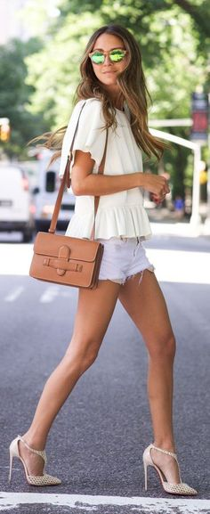 White And Camel Summer Outfit by Something Navy