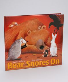 Loving this Bear Snores On Hardcover on #zulily! #zulilyfinds
