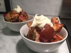 Rhubarb & Challah Bread Pudding