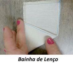 Tipos de bainha utilizadas na indústria do vestuário