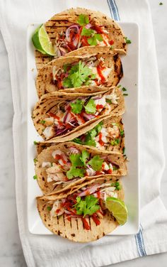 Tequila-Lime Fish Tacos | Love & Lemons for Camille Styles