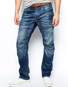 Jack & Jones Anti Fit Jeans With Heavy Wash