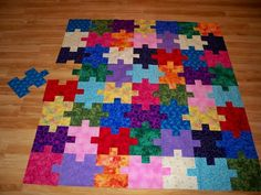 """Puzzle Quilt variation - """"Trying to Fit In"""""""