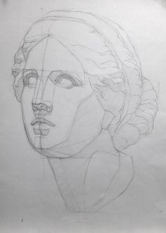 academic drawing – Handmade Everything Anatomy Art, Anatomy Drawing, Drawing Heads, Painting & Drawing, Drawing Sketches, Art Sketches, Basic Drawing, Face Sketch, Volume Art