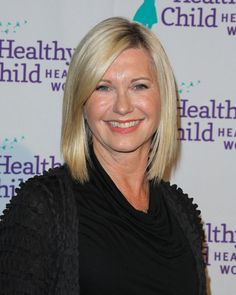 20 Gorgeous Shoulder-Length Haircuts for Women Over 50: Olivia Newton John's Perfect Long Bob