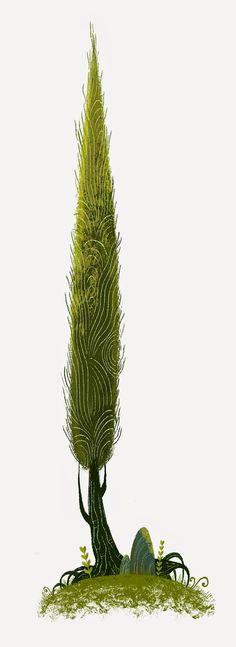 Illustrator: Nikolas Ilic Ahhh... Une utilisation simple d'illustrator mais qui donne beaucoup de cachet a ce jolie cyprès, j'ai beaucoup d'attachement pour les arbres stylisés.