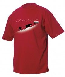 T-Shirt Ski Kuh, rot /T-shirt ski cow, red  A great Geschnek for men, or a great shopping for a man.