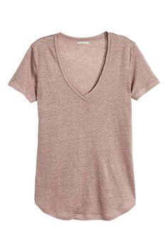 Top in jersey di lino | H&M