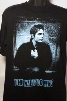 The Wallflowers Mens Size Large Concert Tour Black Graphic T Shirt #Giant #GraphicTee