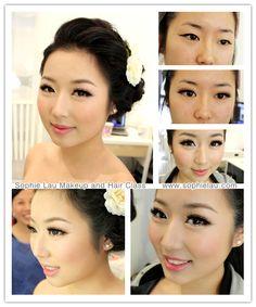 Sophie Lau Makeup and Hair - My most beautiful makeup list Asian Wedding Makeup, Bride Makeup, Wedding Hair And Makeup, Hair Makeup, Prom Makeup, Asian Makeup Looks, Asian Eye Makeup, Too Much Makeup, Makeup List