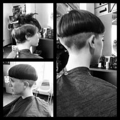 planetbuzzedgirls: bowlcut by droomland03 on Flickr.