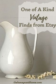 If you love original decor, check out these one-of-a-kind vintage home decor finds from Etsy!  But hurry, they won't last long!  #homedecor #vintage #antique