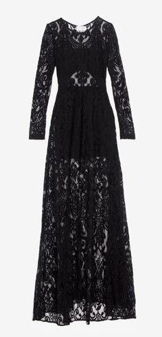 long black lace dress GORGEOUS gown!!..K♥♥♥♥