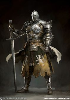 For Honor - The Warden - Character Concept , Guillaume Menuel on ArtStation at https://www.artstation.com/artwork/for-honor-the-warden-character-concept
