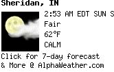 Click for current weather details and long-term forecasts for Sheridan, IN