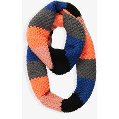 FOREVER 21 Rugby Stripe Infinity Scarf ($11) found on Polyvore - Love this!