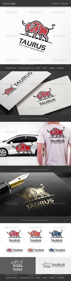Taurus Bull  Logo Design Template Vector #logotype Download it here: http://graphicriver.net/item/taurus-bull-logo/8252657?s_rank=848?ref=nexion